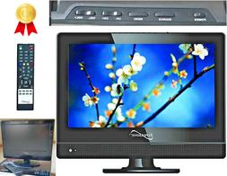 12 Inch TV Flat Screen Small Flatscreen Remote Kitchen HDMI