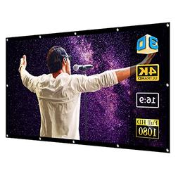 120 Projector Screen for 4K HD TV Video Projection - by Supe