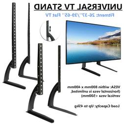 26-65inch Flat Screen TV Stand Adjustable Height Desktop Tab
