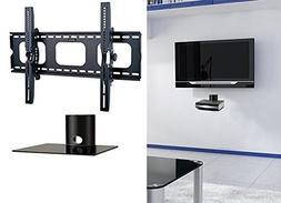 2xhome - NEW TV Wall Mount Bracket & One Single Shelf Packag