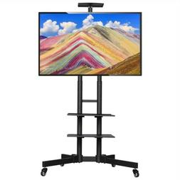 "32-65"" Universal Flat Screen TV Carts Stand Mobile TV Cons"