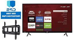 TCL 32S305 32-Inch 720p Roku Smart LED TV   + Wall Mount Bra