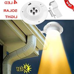 New 4 LED Solar Powered Gutter Light Outdoor/Garden/Patio/Wa