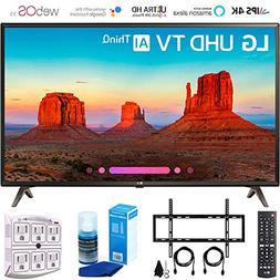 """LG 49UK6300 49"""" UK6300 Smart 4K UHD TV  with Wall Mount + Cl"""