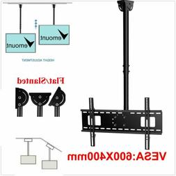 Ceiling TV Wall Mount Bracket Height Adjustable Tilt Flat Sc