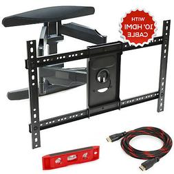 Full Motion TV Wall Mount Swivel Bracket 42 50 55 60 65 70""