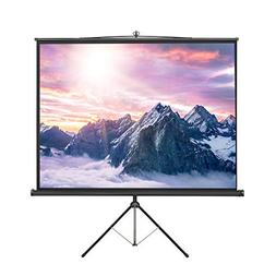 VonHaus 84 Inch Tripod Standing Projector Screen - TV/Home T