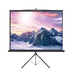 VonHaus 84 Inch Tripod Standing Projector Screen - TV/Home T