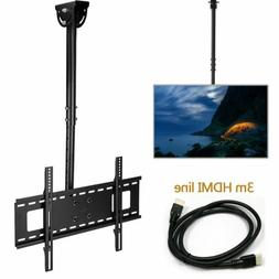 Adjustable Ceiling TV Wall Mount Bracket Tilt for 32-65 inch