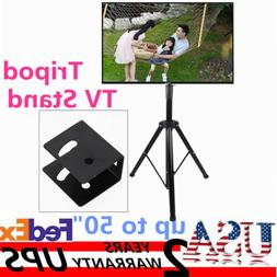 Adjustable Mobile TV Tripod Stand LCD/LED Flat Screens Fits