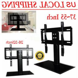 Adjustable Universal TV Stand Pedestal Base Mount Flat Scree