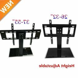 Adjustable Universal TV Stand Pedestal Base Wall Mount Flat