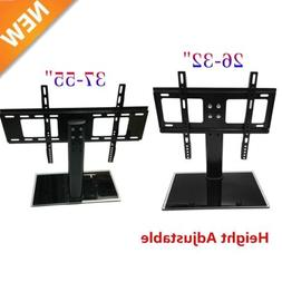Adjustable Universal TV Stand Pedestal Base Wall Mount Flat