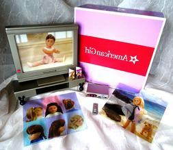 American Girl Doll ENTERTAINMENT NEW SET Flat Screen TV DVD