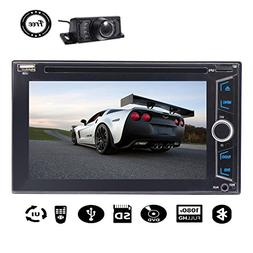 "Free Back Camera 6.2"" Double 2 Din Car Stereo DVD Player Tou"
