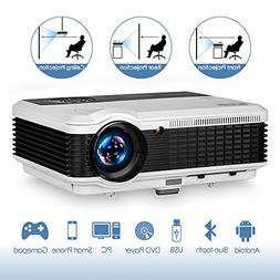 3900 Lumen LED LCD Bluetooth Projector Wireless HD 1080P Sup