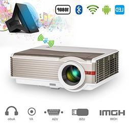 4200 Lumen Bluetooth WiFi Video Projector Support HD 1080P 7