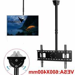 Ceiling TV Wall Mount Bracket Height Adjustable Tilt Flat Sc