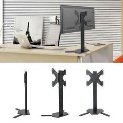 """Corner Floor TV Stand Height Adjust Mount Fit 17""""24""""28""""37""""42"""