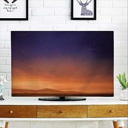 aolankaili Cover for Wall Mount tv Evening Sky Cover Mount t