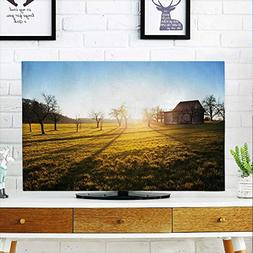 aolankaili Cover for Wall Mount tv Fields of Gold Cover Moun