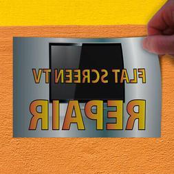 Decal Sticker Flat Screen Tv Repair Business Business Flat O