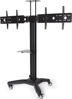"Displays2go Dual TV Stand, for HDTV Flat Panels 37"" to 60"","