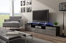 Concept Muebles ENEA GRAND with top Glass Shelf Tv Stand - H