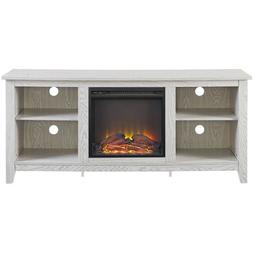 Fireplace TV Entertainment Stand for 60-inch 4K Smart Flatsc