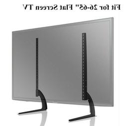 Fit 26-65Inch Tabletop TV Stand Pedestal Mount Monitor Riser