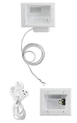 Datacomm Flat Panel TV Cable Organizer Kit with Duplex Power