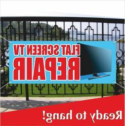FLAT SCREEN TV REPAIR Advertising Vinyl Banner / Mesh Banner