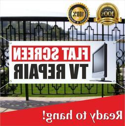 FLAT SCREEN TV REPAIR Banner Vinyl / Mesh Banner Sign Flag S