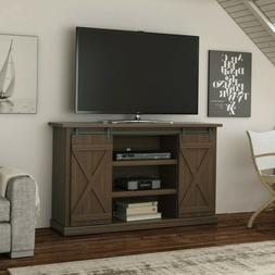 "Flat Screen TV Stand 54"" Entertainment Center Barn Wood Door"