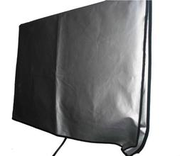 Large Flat Screen TV  Vinyl Padded Dust Silver Color Covers
