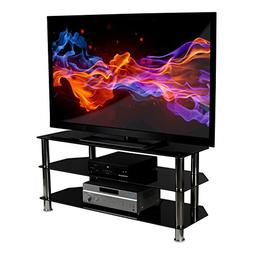 Mount-It! Glass TV Stand for Flat Screen Televisions Fits 40