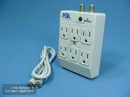 Leviton Gray 6-Outlet SURGE Protector Receptacle Adapter w/