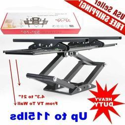 Heavy Duty Dual Arm Full Motion TV Wall Mount Tilt & Swivel