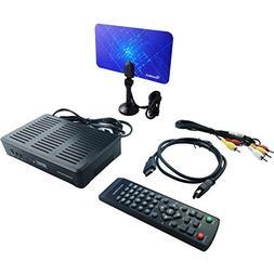 Mediasonic HOMEWORX HW180STB Digital Converter Box Bundle wi