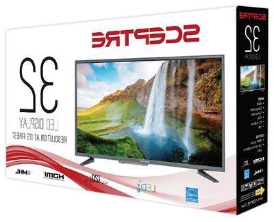 """32"""" LED Flat Screen TV Mountable Home"""