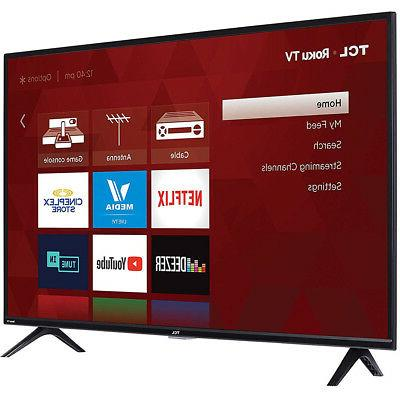 """TCL 40"""" LED Roku 60Hz Refresh Rate"""