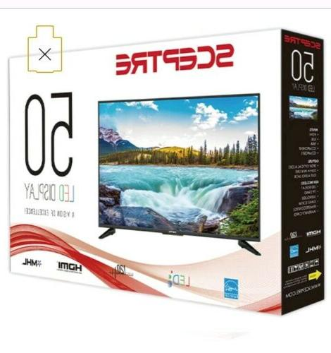 50 Inch Smart Sceptre Flat Screen Plasma Best 1080p