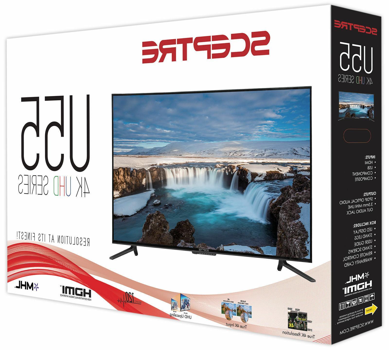 55 HD Flat Screen HZ 2160p HDMI Living Bedroom