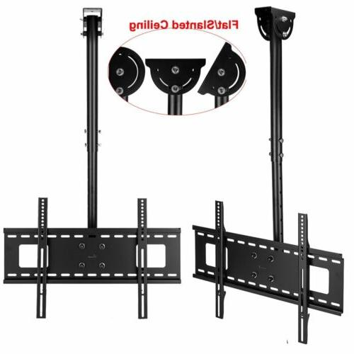 Ceiling Wall Mount Bracket Height Tilt Flat Screen 70""