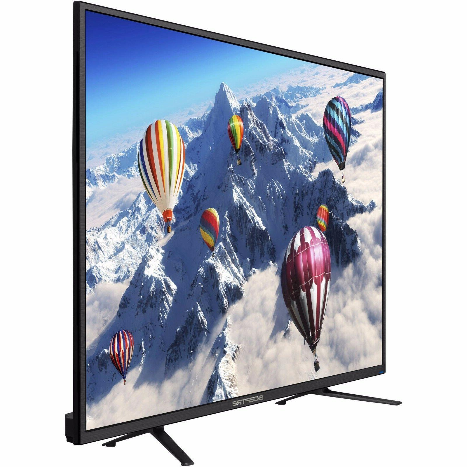 Flat Screen TV Big 55 Inch LED Entertainment 4K Ultra HD 216