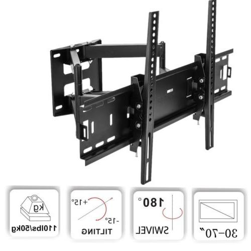 Full Motion Flat Screen TV Wall Mount Bracket 32 37 40 42 47