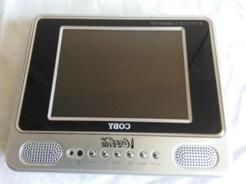 """Lab Tested COBY TF-TV505 5"""" portable Flat screen color TV w/"""