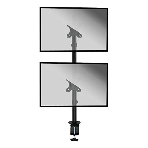 NavePoint Vertical Monitor Holds 2 Stacked Screens Up To