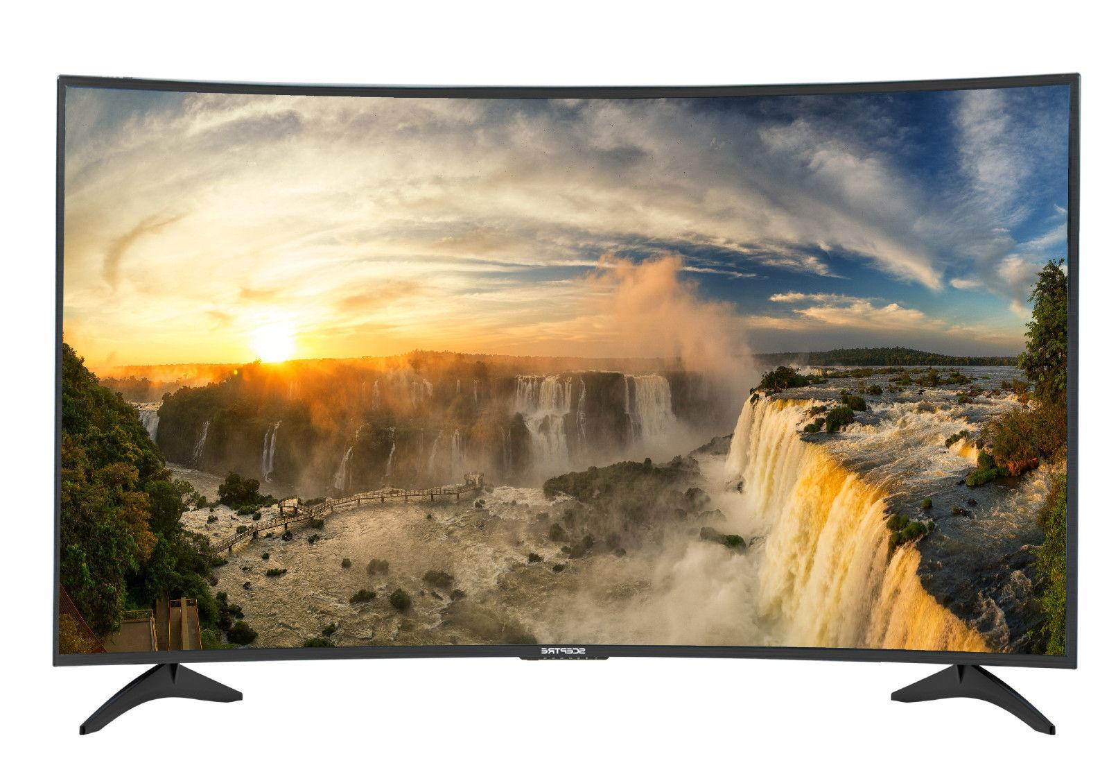 "Sceptre 65"" Class HD 2160P 4K Curved LED TV C650CV-U UHD HDT"