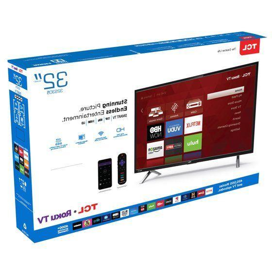 "TCL 32"" Television Flat Screen Smart LED TV With WiFi Roku"